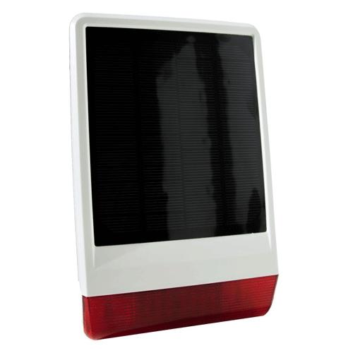 Popp Outdoor Siren Solar Power Z-Wave Plus