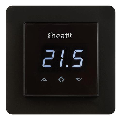 Heat It Wandthermostaat Zwart Z-Wave Plus