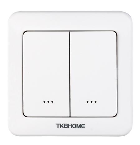 TKB Home Dubbele Schakelaar 1 Dimmer Compleet Z-Wave Plus