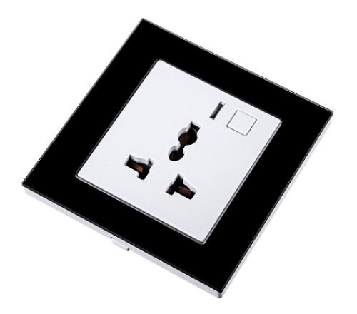 WiHouse Stopcontact Universeel Compleet Zwart Wifi