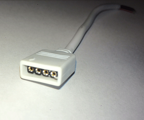 ROBB Smarrt Diy 4-Pin Female Adapter Extension Connecting Cable For Rgb Led Strip