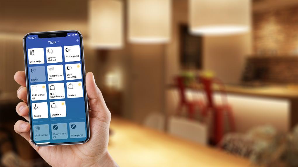 Slimme verlichting met een app