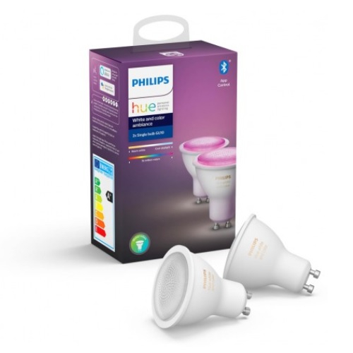 Philips Gu10 Duo Pack White And Color Perfect Fit Hue