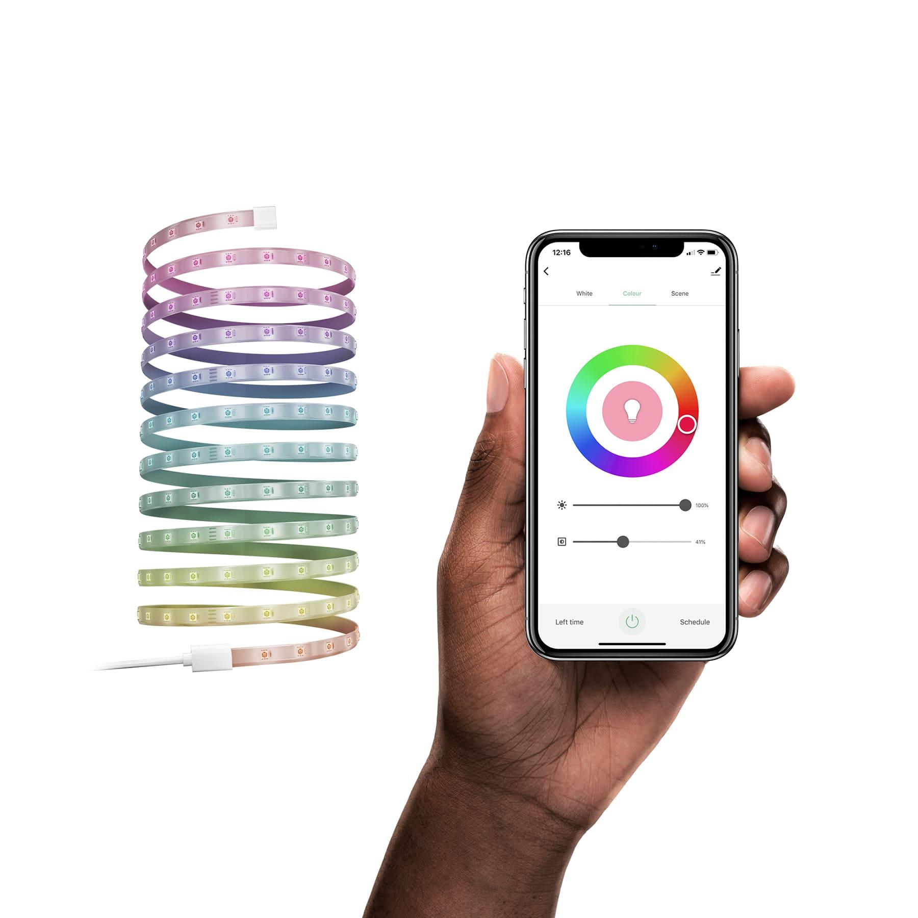 Hombli Slimme Ledstrip RGB- 5 meter - bediening via app of stem - Wifi