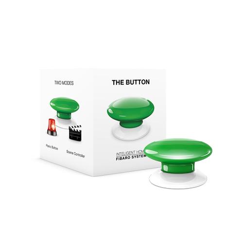 FIBARO Wandzender Z-Wave Plus Button Groen