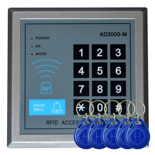Keypad Met 5 Rfid Sleutels Z-Wave