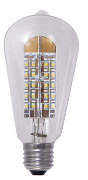 Tronix Dimbare Led Lamp S21 Smd 8 Watt E27 2200k Clear TRONIX