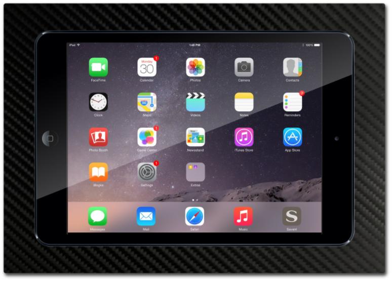 Simplidock Verzonken Tablethouder Carbon Fiber  iPad 9.7inch