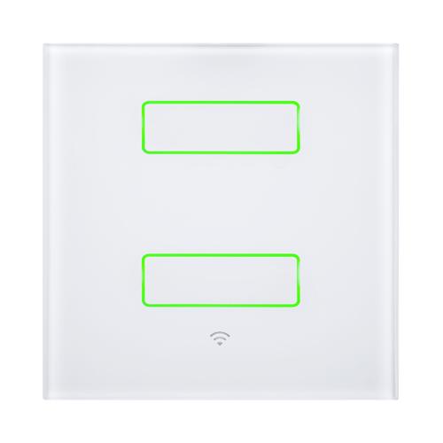 WiHouse Schakelaar Wifi 2300W dubbel Compleet Wit