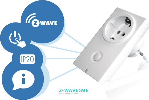 Zwave.me Tussenstekker Z-Wave 3500W Z-Wave.Me EOL