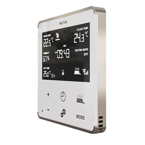 Heltun Wall Thermostat Z-Wave Plus White