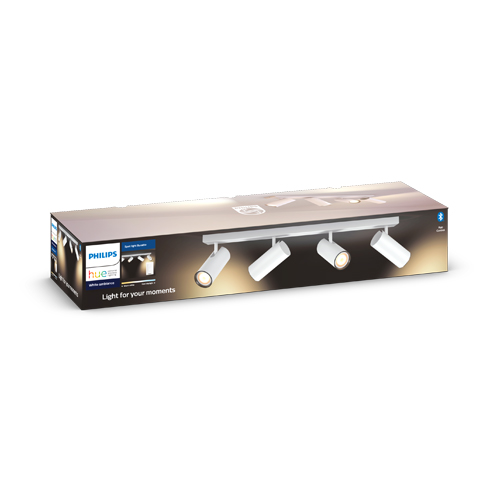 Philips Hue Buratto Bar Tube Wit 4x5W + Dimmer switch