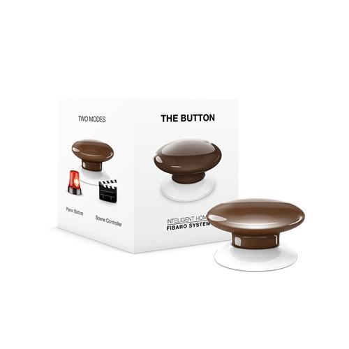 FIBARO Wandzender Z-Wave Plus Button Bruin