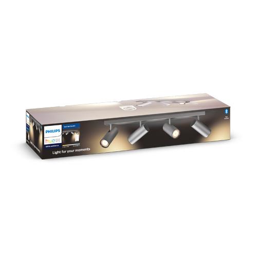 Philips Hue Buratto Bar tube Alu 4x5W + Dimmer switch EOL