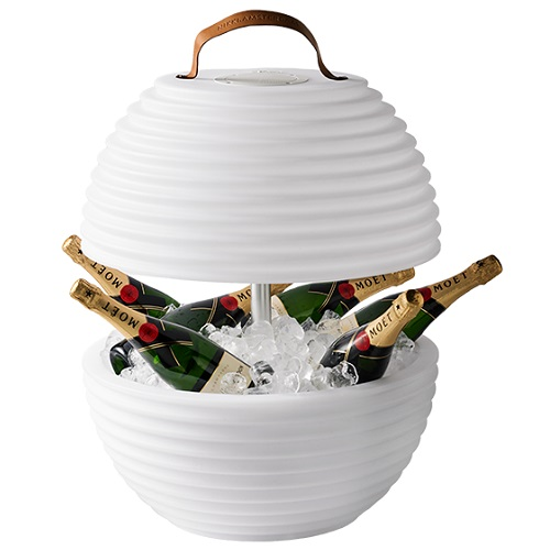 Nikki Amsterdam Wine Cooler The Bowl With Rgbw Lighting And Bluetooth Speaker