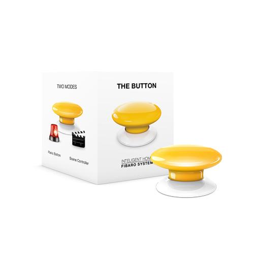 FIBARO Wandzender Z-Wave Plus Button Geel