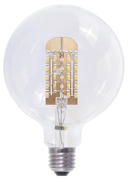 Tronix Dimbare Led Lamp Globe 125mm 6 Watt E27 2200k Clear TRONIX