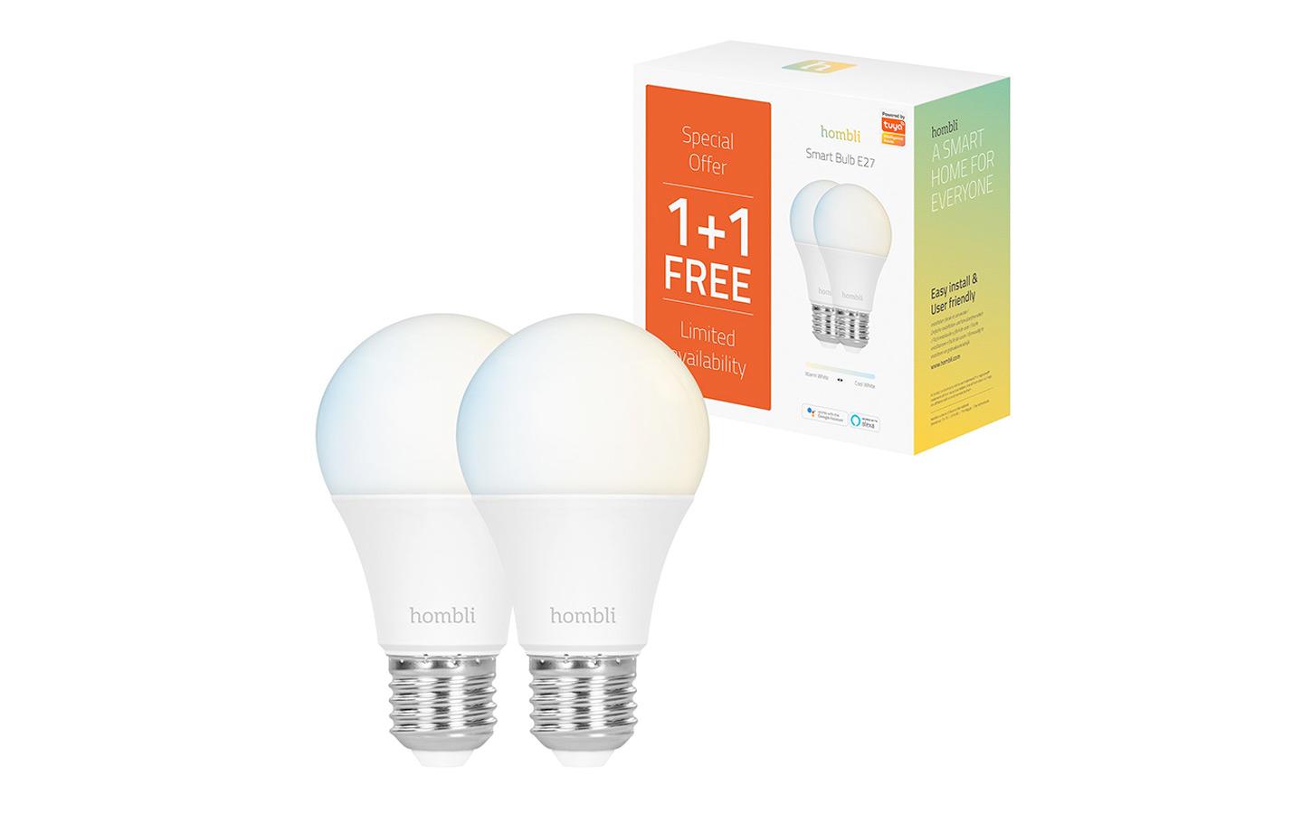 Hombli Slimme Lamp E27 9W WiFi 1 + 1 gratis!