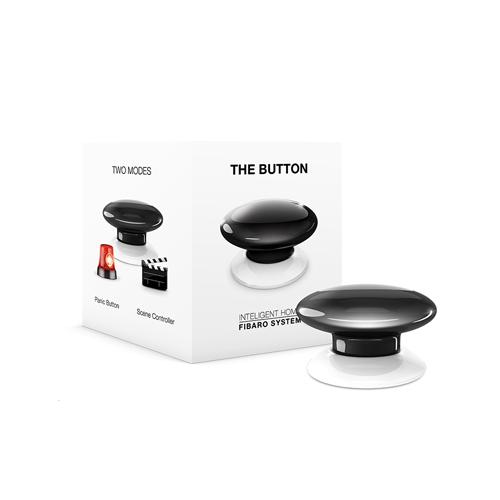 FIBARO Wandzender Z-Wave Plus Button Zwart
