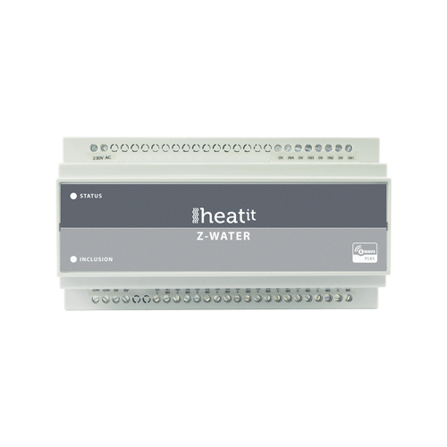 Heat It Schakelaar Z-Wave 1250W Dinrail Module 10 Z-Water