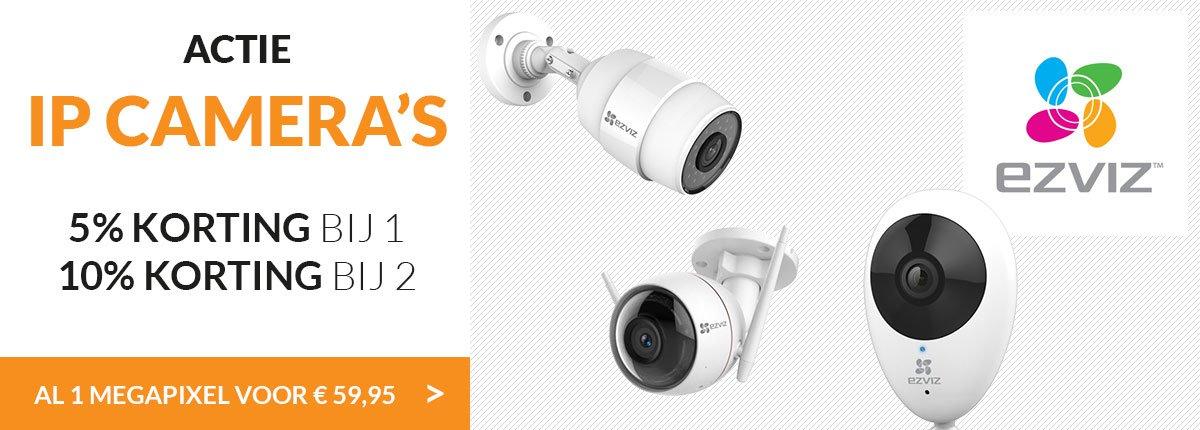EZVIZ | 5% korting op alle camera's en 10% bij 2 of meer