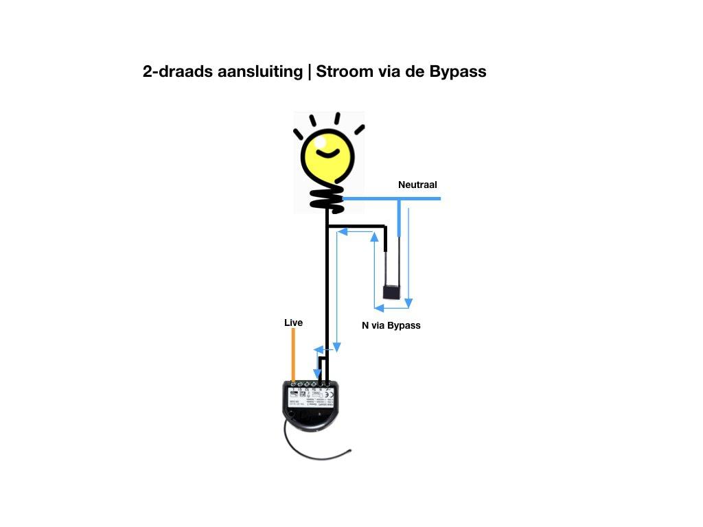 Bypass | 2 draads aansluiten
