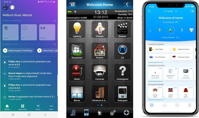 Homey app vs FIBARO Home center App