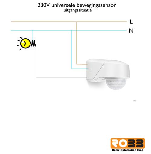 het idee is om de voeding van de sensor af te takken en daarmee de fibaro module te voorzien van stroom dat ziet er dan zo uit