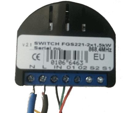 FIBARO 2x1,5kw module aansluiten op Kallox Z-wave gordijn