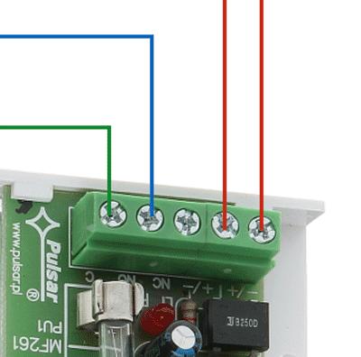 Detail connection Satel AC relais