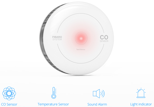 FIBARO CO sensor - Functies