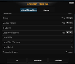 FIBARO Home Center 2 XBMC integratie deel 3