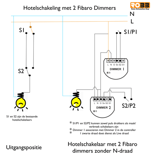 Two Zwave Dimmers On 3 Way Switch Wisselschakeling