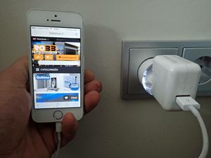 met uw iPhone Smartphone een domotica slaapscene starten als u naar bed gaat.