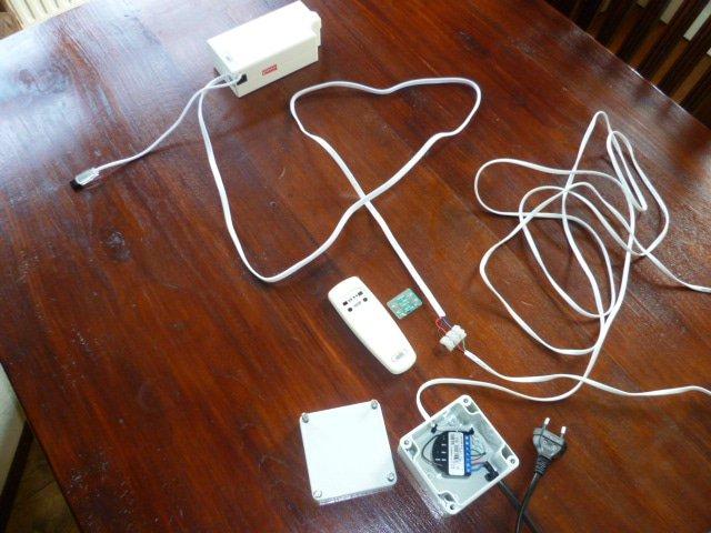 Onderdelen van het Kallox elektrische gordijn systeem
