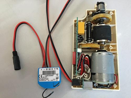 Aanpassing van de motor voor het Kallox Electrische gordijnsysteem